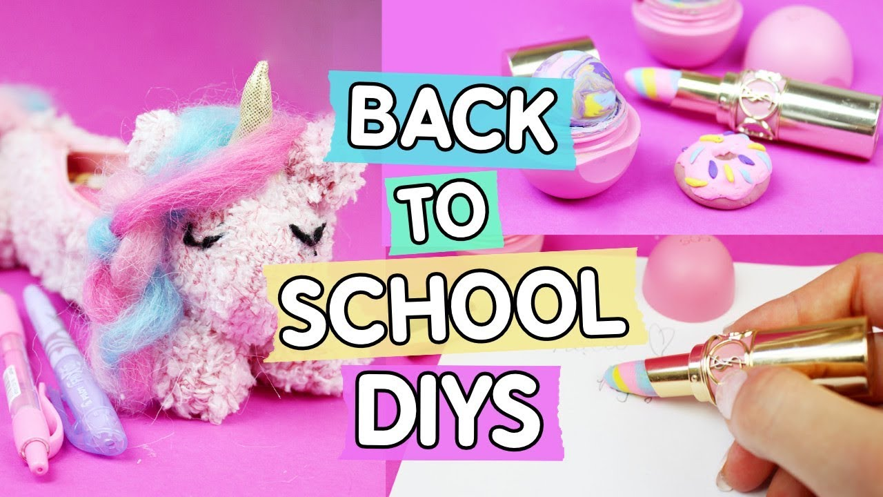 3 Coole Back To School Diys Einhorn Mappchen Donut