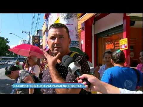 Geraldo Luís vai parar no hospital com caxumba