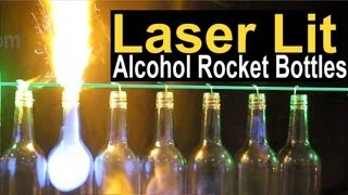 Laser Lit Alcohol Rocket Bottles with 100mW Spyder III Krypton Laser by Wicked Lasers * IMG *
