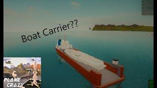 ¿Hacer un barco de transporte?!! (Roblox Plane Crazy)