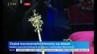 CT24 - živá reportáž z výstavy České korunovační klenoty na dosah