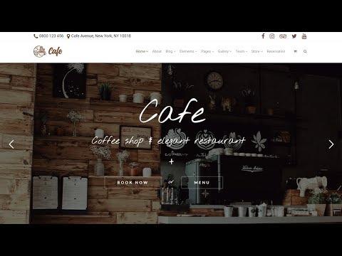 Cafe WordPress Theme - Coffee Shop, Restaurant & Bar Website Builder