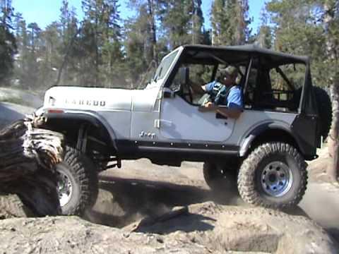 83 Jeep CJ7 Rock Crawling on Bald Mountain - YouTube