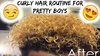 My Everyday Curly Hair Routine For Pretty Boys   Product Review of Miss Jessie's Multicultural Clear