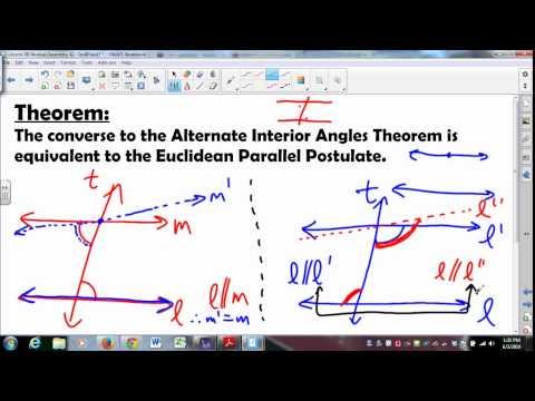 MATH335 SUNYGeneseo Neutral Geometry 13 Euclidean Parallel Postulate