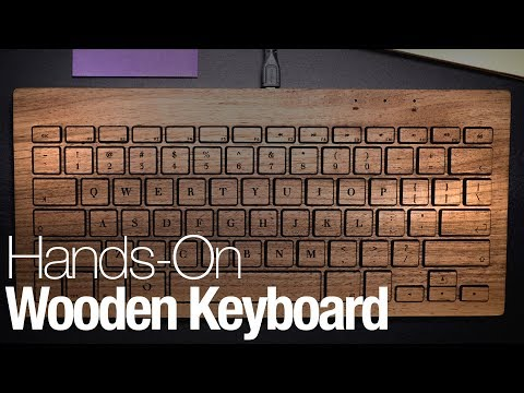 This beautiful wooden keyboard will transform your workspace