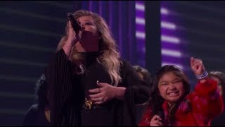 "Kelly Clarkson Angelica Hale & Kechi""Stronger""America's Got Talent 2017 Final Results Show 