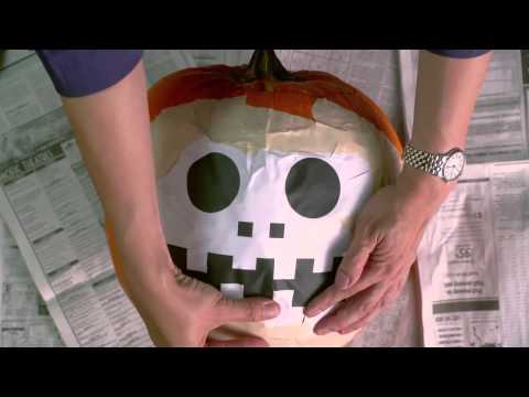 How To Carve A Pumpkin Using A Template