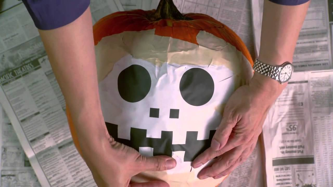 how to carve a pumpkin using a template youtube