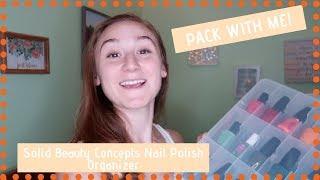 Nail Polishes I'm Bringing to College   Solid Beauty Concepts Nail Polish Organizer Review