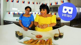 Download HOW TO MAKE LUMPIA IN VR | PatrickStarrr Mp3 and Videos