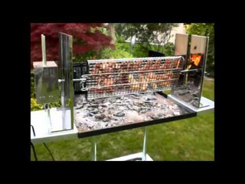 Barbecue Maxi Con Griglia Girevole Idea Ferro