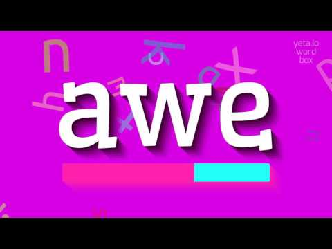 """How to say """"awe""""! (High Quality Voices)"""