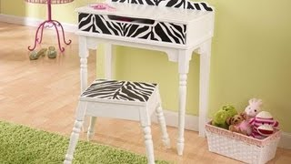 Vanity And Stool For Little Girls 13025