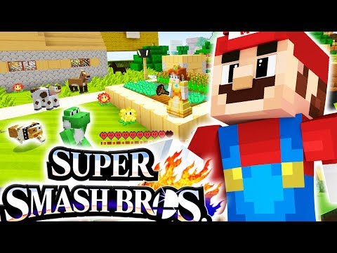 18 PLAYERS SUPER SMASH BROTHERS IN MINECRAFT