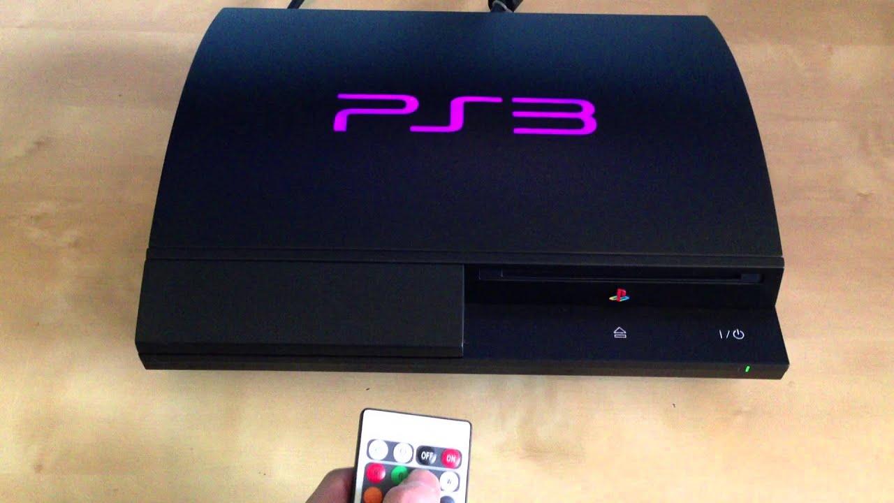ps3 led mod backlight ps3 logo 3 hd final youtube. Black Bedroom Furniture Sets. Home Design Ideas