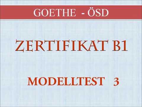 Goethe Und ösd Zertifikat B1 Neu B1 Prüfung Test Hören B1