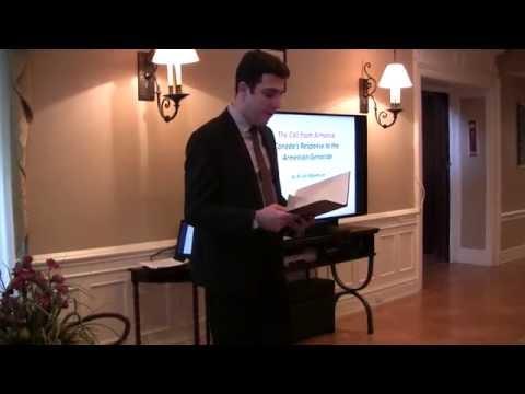 Aram Adjemian's Book Presentation at the Embassy of Armenia