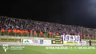 Torcida Split / NK Istra 1961 - Hajduk Split 1:1 (25. Kolo MAXtv Prva Liga)