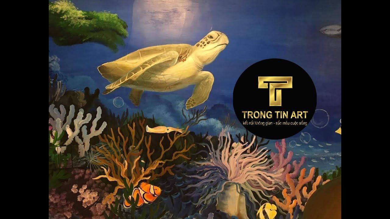 Vẽ Tranh Tường 3D quán Nhậu,quán ăn Hải Sản Quận 7 – Vẽ Tranh Tường Trọng Tín ART 3D – 096.8899.079