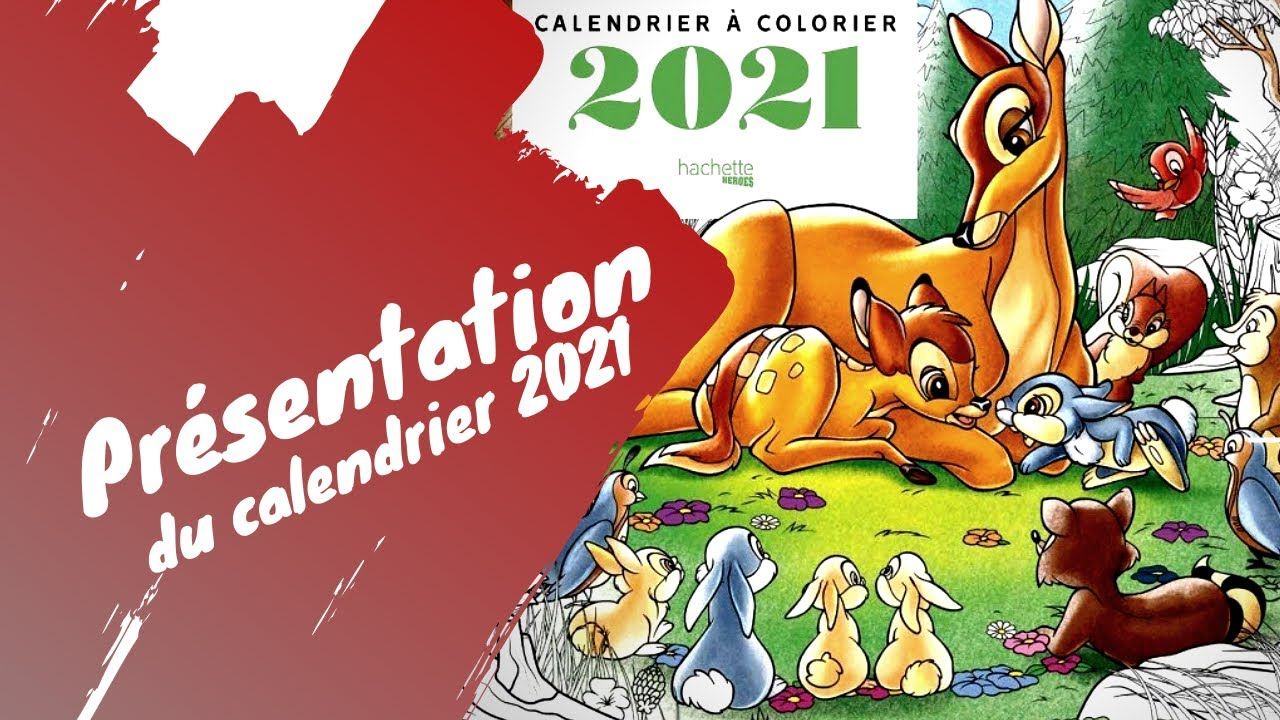 Calendrier Disney 2021 à colorier   YouTube