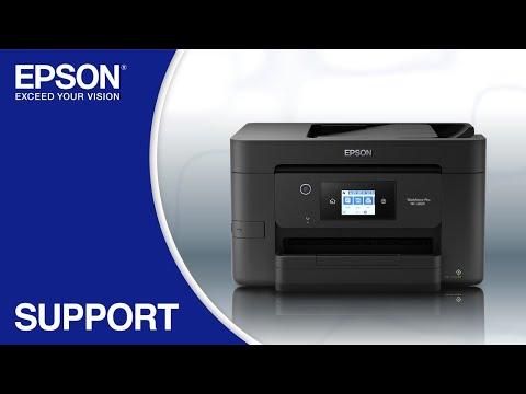 Epson WorkForce WF-3820 | Wireless Setup Using the Control Panel