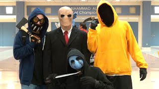 Creepypasta in public - Slender Man, Eyeless Jack, Ticci Toby and Hoody thumbnail