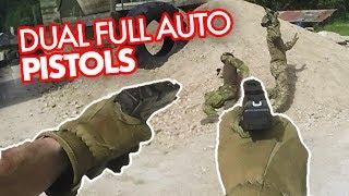DUAL WIELD Airsoft Pistols - FULLAUTO Glock 18c