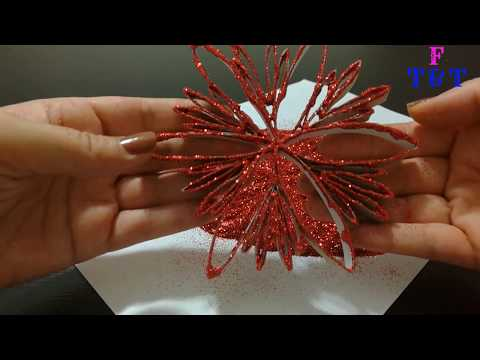 Making Decorative Things From Paper Towel Rolls – DIY - Peçete Rulosundan Yıldız Şeklinde Süs Yapmak