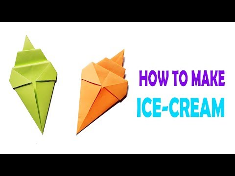 Making Origami Paper Ice Cream Cone Tutorial for Kids & Beginners | Beautify Crafts
