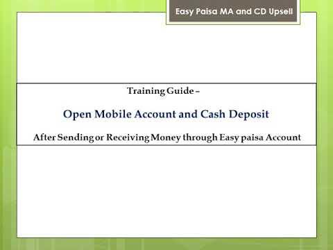 Taraing easy paisa sending &receving