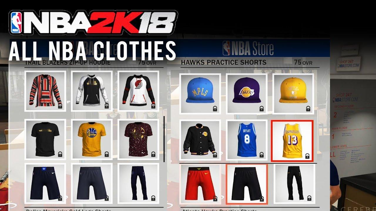 finest selection 0086a f0db2 NBA 2K18 - ALL NBA TEAM JERSEYS/HATS/OUTFITS (NBA Team Clothes)