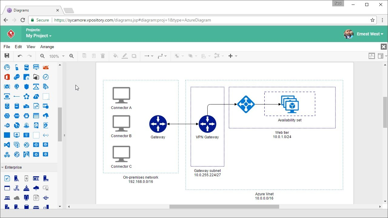 medium resolution of draw azure diagram online