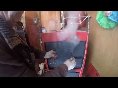 Котел Буржуй-К пиролизный , нет горения в камере / Пиролизный котел