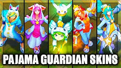 All New Pajama Star Guardian Skins Lux Ezreal Soraka Miss Fortune Lulu (League of Legends)
