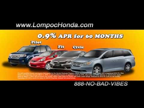 Lompoc Honda Specials On New Cars Trucks Vans SUV Serving Santa Maria Barbara