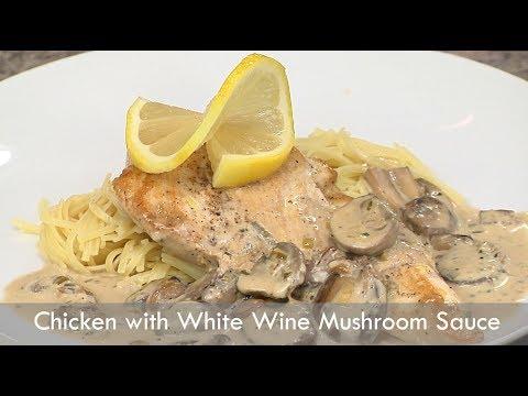 Chicken with White Wine Mushroom Sauce