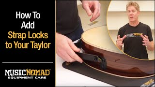 How to install Acousti-Lok Strap Lock Adapter on my TAYLOR® Guitar 9 V battery EXPRESSION SYSTEM®