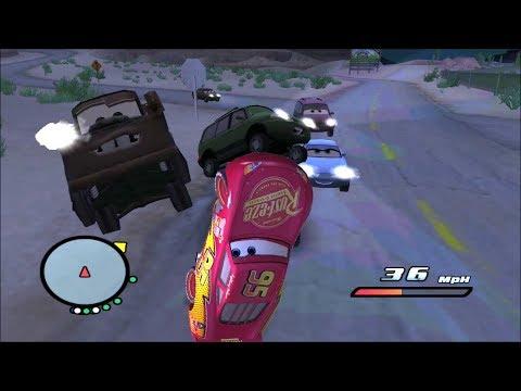 Disney Pixars Cars Movie Game - Crash Mcqueen 121 - Radiator Springs Line Up |