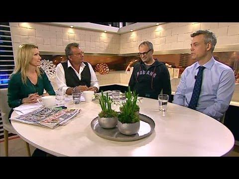 Henrik Schyffert och Johan Rheborg om nya tv-serien Allt faller - Nyhetsmorgon (TV4)