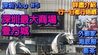 【深圳Vlog】深圳一天遊 最大商場壹方城攻略 外婆家 海底撈 喜茶 深圳吃貨之旅