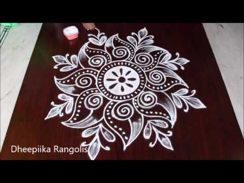 creative freehand muggulu design without dots * simple ...