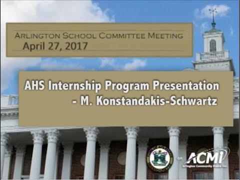 AHS Internship Program Presentation - April 27, 2017
