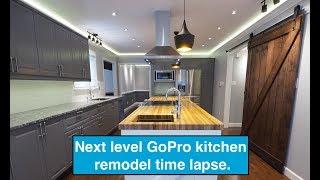 Next Level GoPro Amazing Kitchen remodel timelapse.