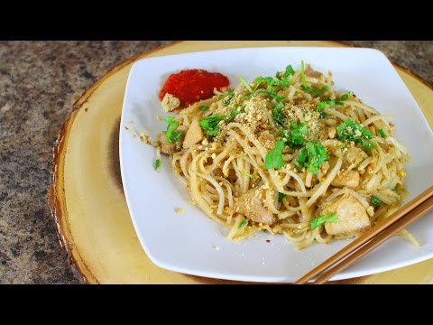 how to make chicken pad thai – asian thai recipes – easy recipe – food how to – foodie