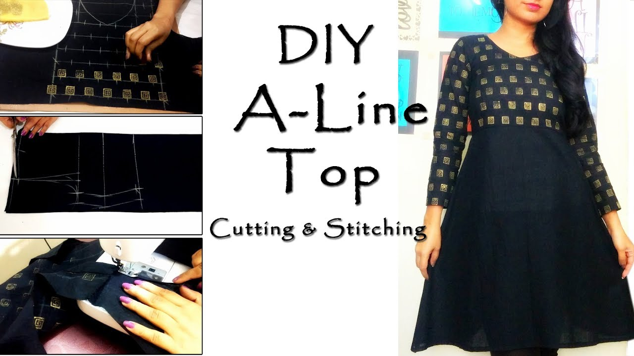 DIY A Line Top Cutting & Stitching | Trendy Tops Patterns - YouTube