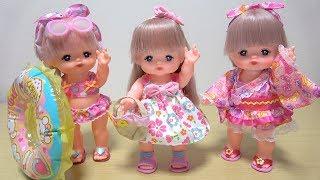 メルちゃん 夏コーデ  New summer fashion style for girls cute doll Mell.