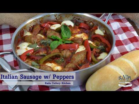 Italian Sausage And Peppers - Healthy Low-Carb Recipe | Rada Cutlery Video