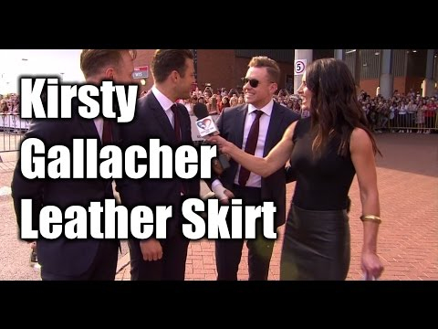 Kirsty Gallacher leather skirt