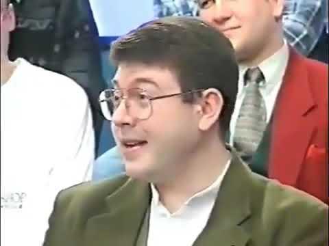 """John Stapleton talking to Doctor Who """"freaks"""" in 1996."""